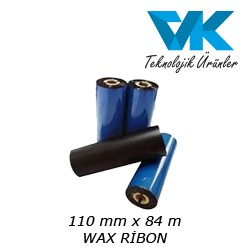 110 mm x 84 m WAX RİBON