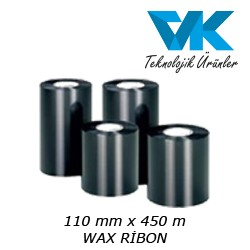 110 mm x 450 m WAX RİBON