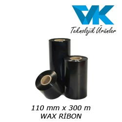 110 mm x 300 m WAX RİBON