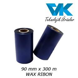 90 mm x 300 m WAX RİBON