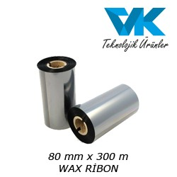 80 mm x 300 m WAX RİBON