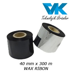 40 mm x 300 m WAX RİBON