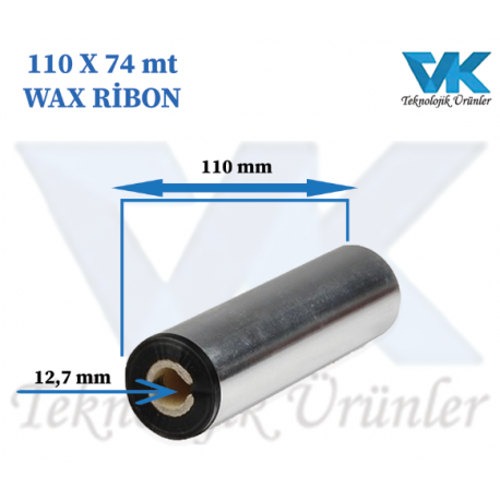 110 mm x 74 m WAX RİBON