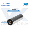 110 mm x 74 m WAX RİBON